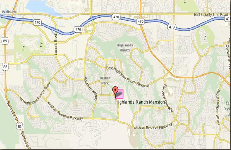 Map of Highlands Ranch Mansion
