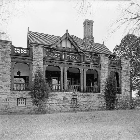 West side porch. Photo taken post 1930s.