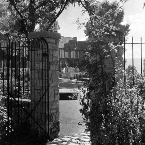 1930s view looking west through the gate near today's Marian's Garden.